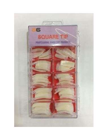 Tips Square Natural x 100ud.