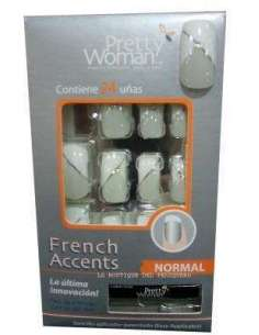 Pretty Woman French Accents blanco (24 unidades)