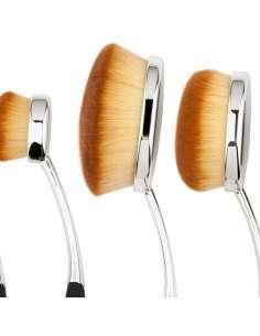 Set Pinceles de Maquillaje Forma Ovalada