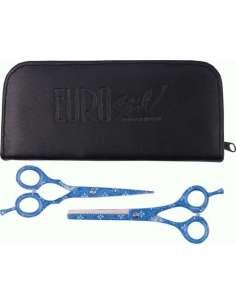 Pack tijeras azul decorada 5.5