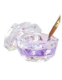 Vaso cristal con tapa