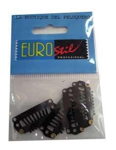 Clip extensión negro 2.2 cm (bolsa de 4 unidades)