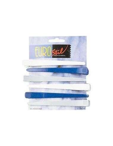 Carton de 6 pinzas plástico profesional
